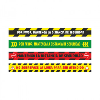 Adhesivo rectangular 100x10 cm